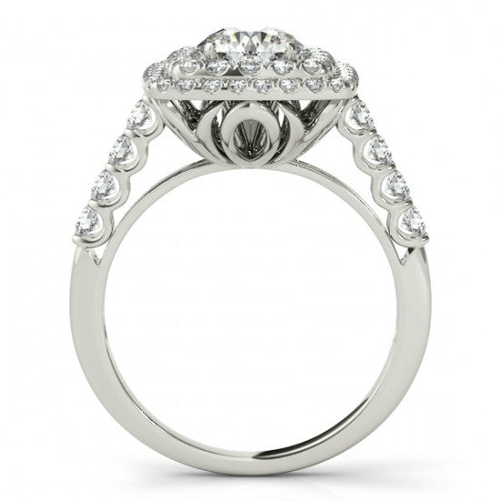 Forever One Moissanite & Double Diamond Halo