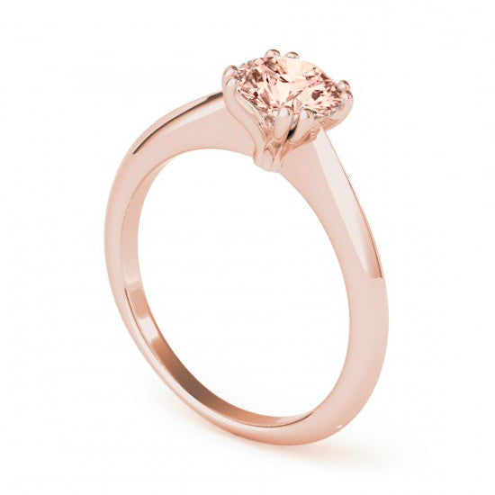7mm Morganite Solitaire Ring