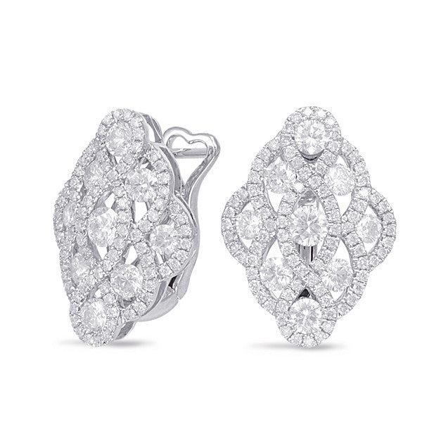 2 Carat Diamond Lattice Earrings