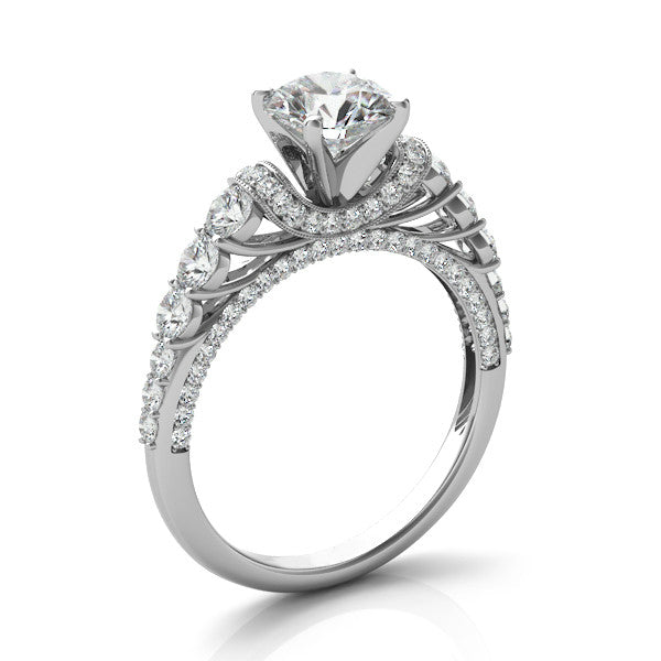 Modern Forever One Moissanite & Diamond Ring