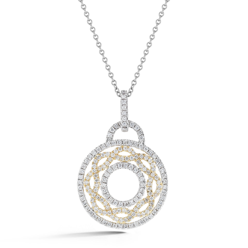 Open Pave Braided Circle Necklace