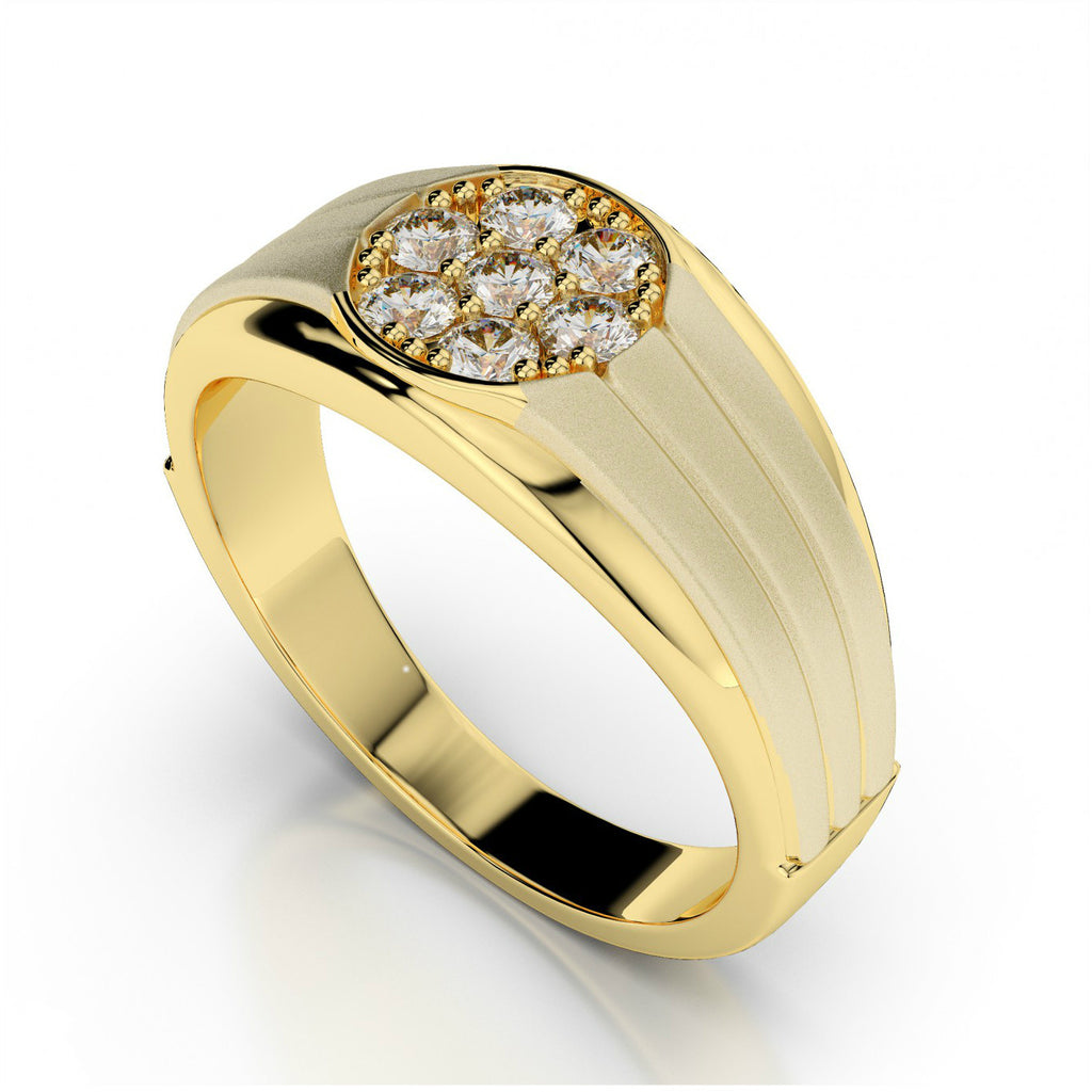 Men's 1/2 Carat Diamond Cluster Ring