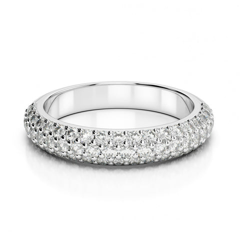 0.50 ct Diamond Pave Wedding Band