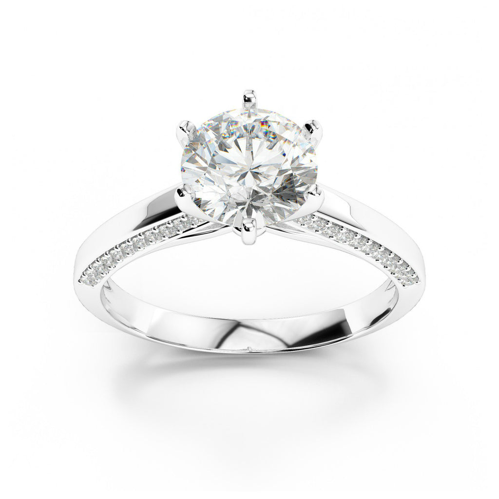 1 Carat Forever One Moissanite & Diamond Solitaire Ring