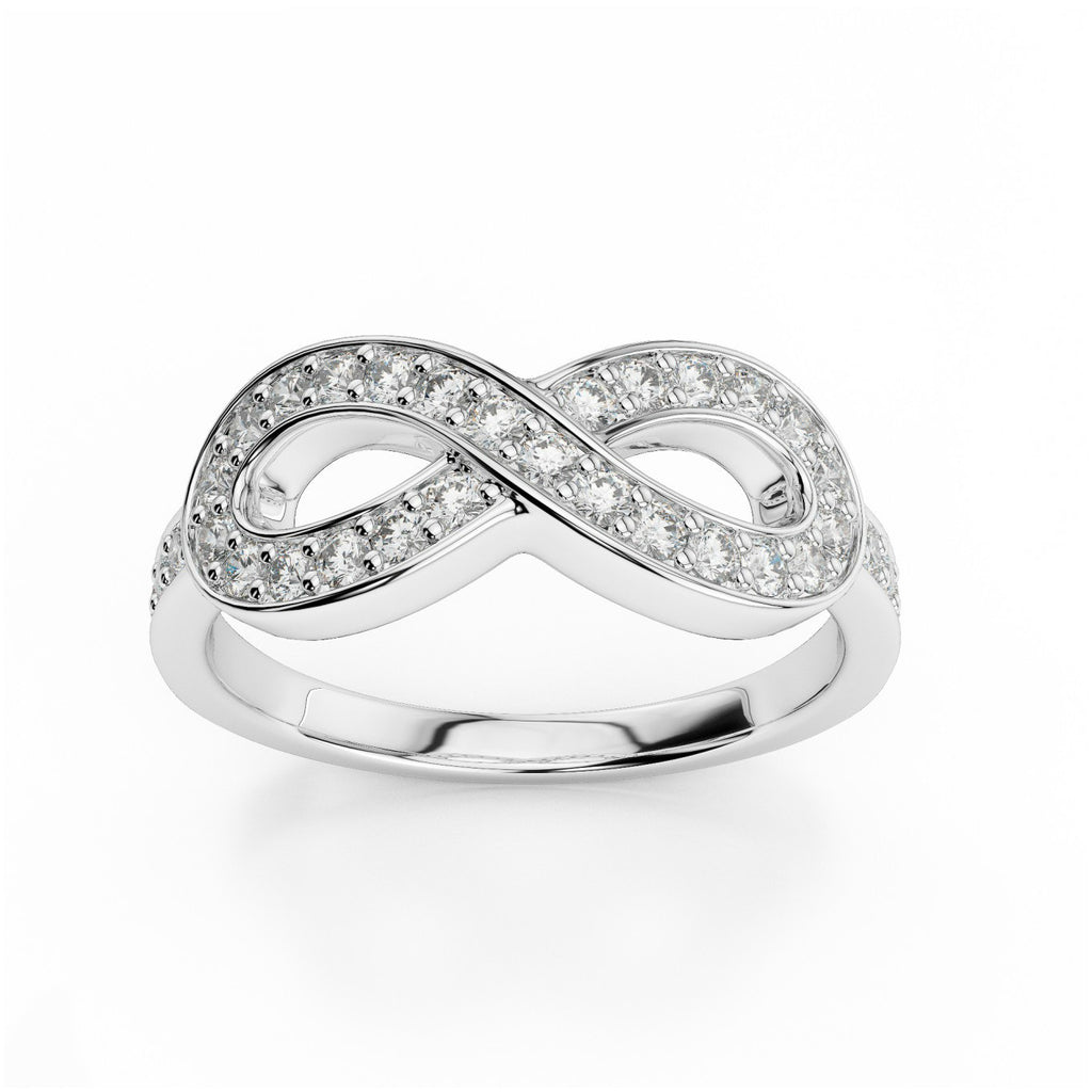 Diamond Infinity Ring