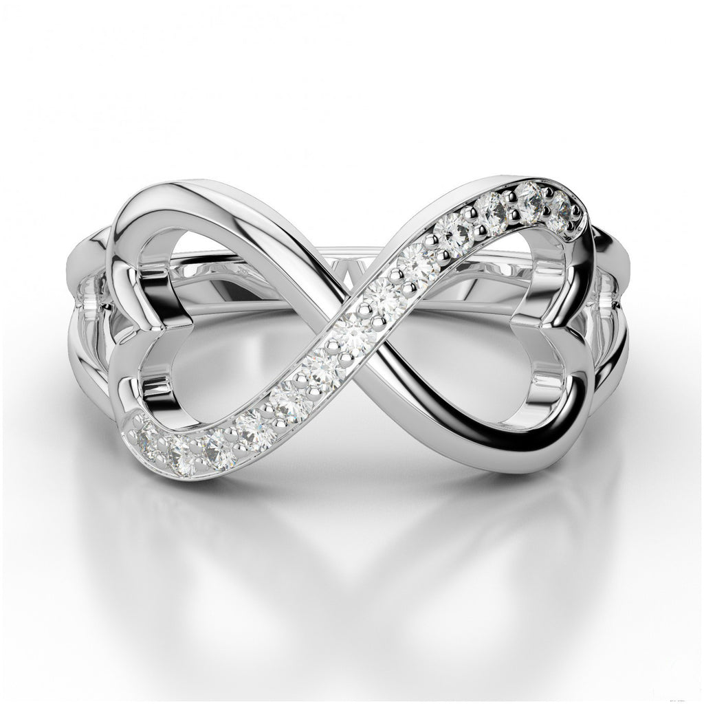Diamond Infinite Heart Ring