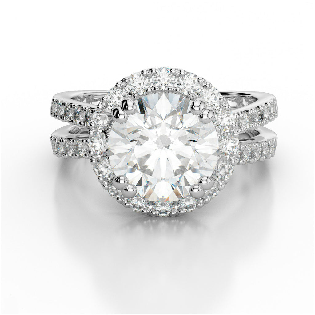 1.25 Carat Forever One Moissanite & Diamond Ring