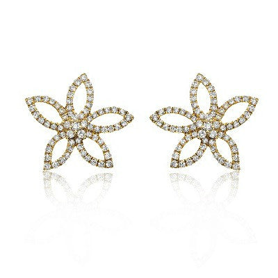 Lily Stud Diamond Earrings