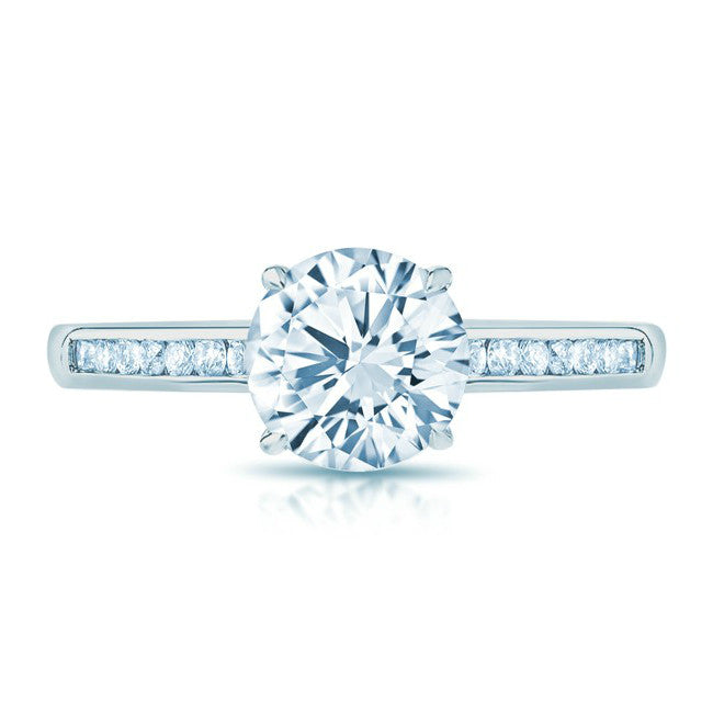 Forever One Moissanite & Diamond Engagement Ring