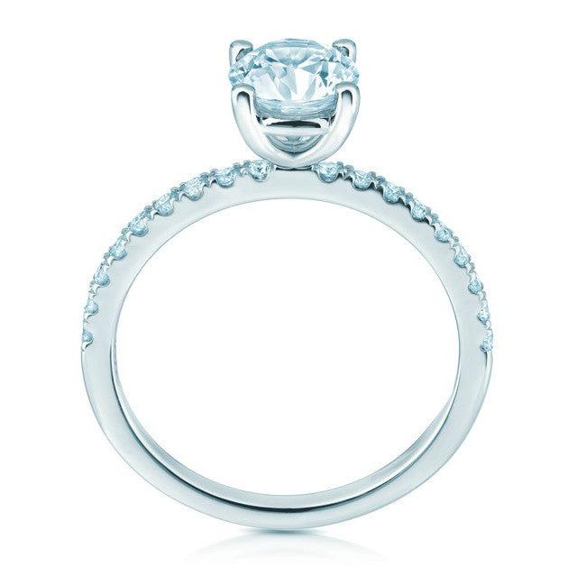 6.5mm Forever One Moissanite & Diamond Ring