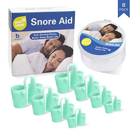 Piero Lorenzo Anti Snoring Devices - Snoring Solution - Snore Stopper Set - Anti Snoring Solutions - Breathe and Sleep Better - Anti Snoring Nose Vents - 8 Blue Packs