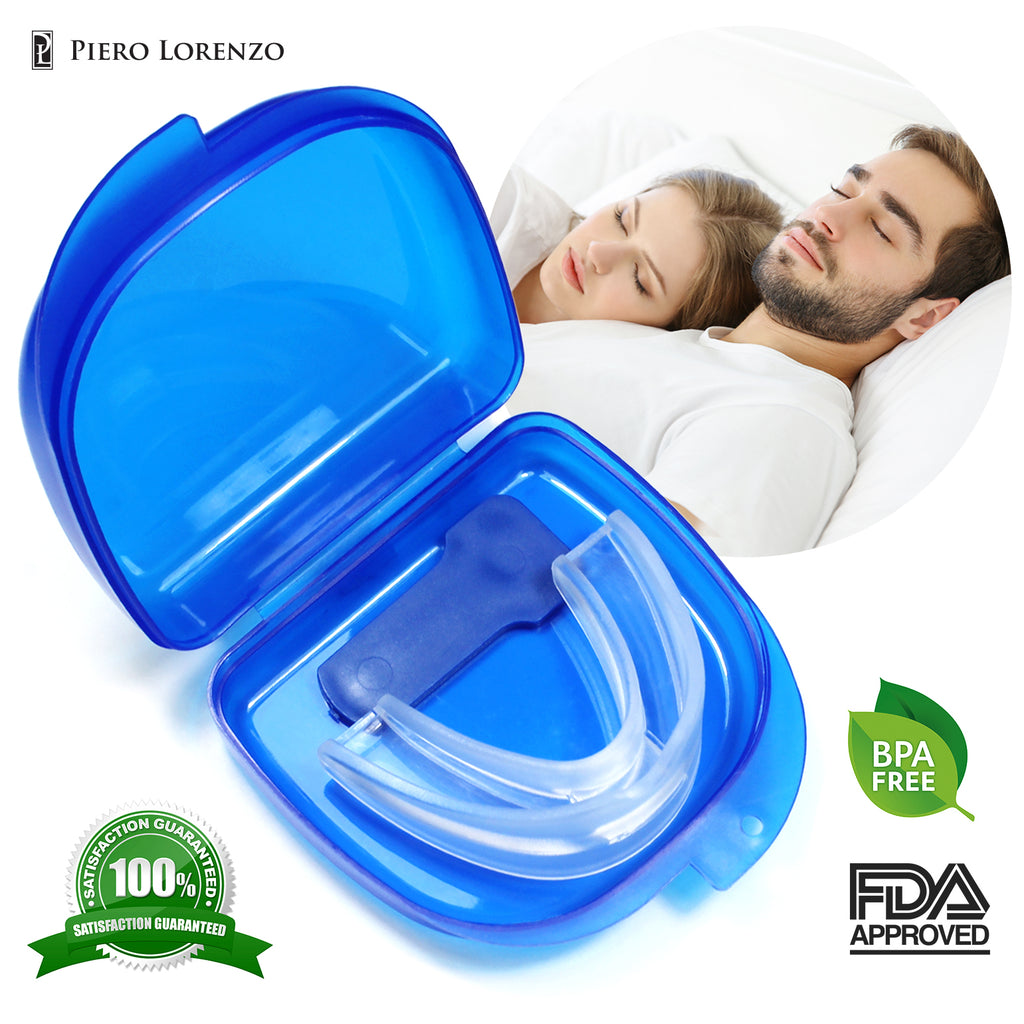 Piero Lorenzo Best Anti Snoring Solution - Anti Snoring Mouthpiece - Anti Snoring Devices - Snore Stopper for Men and Women  - Sleep Aid Night Mouth Guard - Quiet Nights and Better Sleep