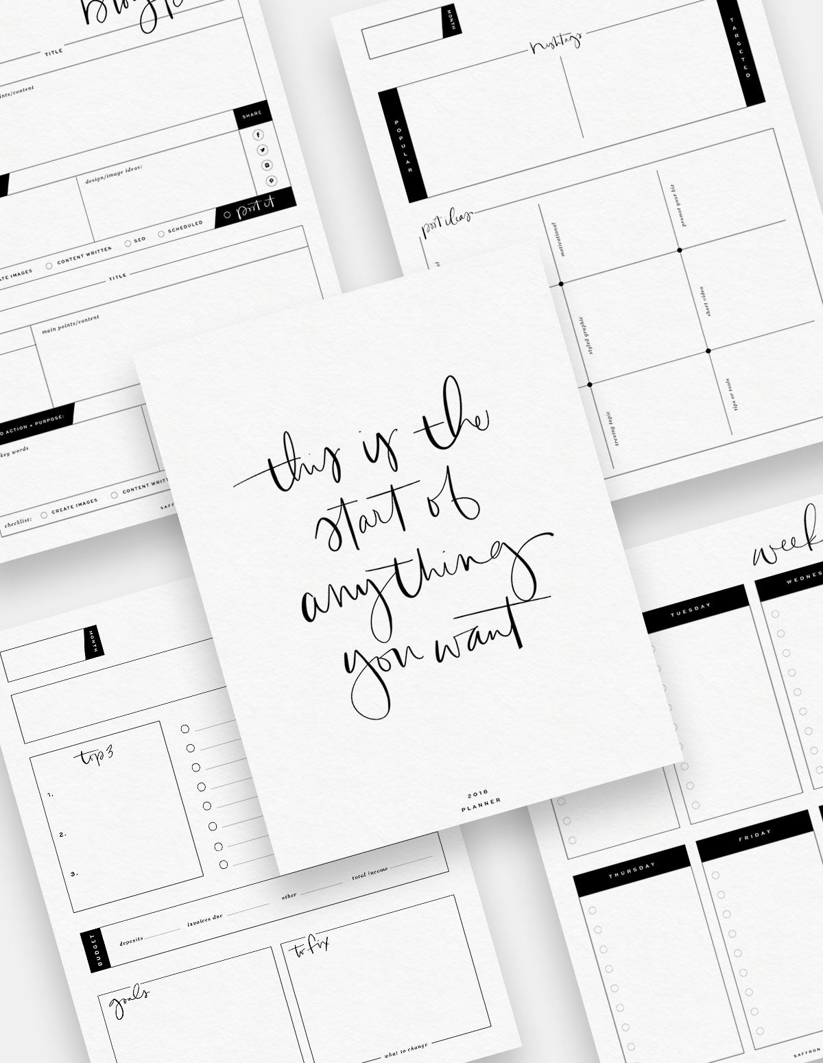 B&W Complete Bundle Planners