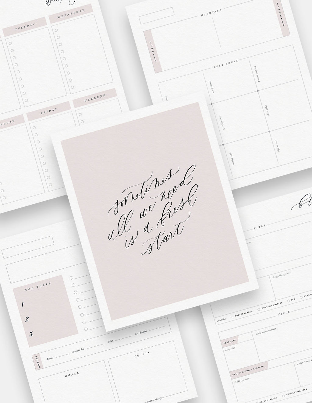 Calligraphy Complete Planner Bundle