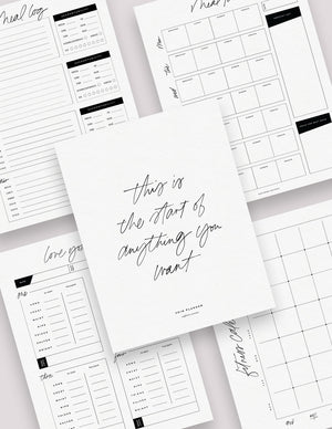 Health & Fitness Planner Bundle