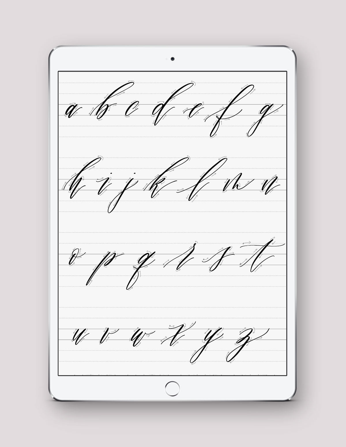 Lowercase Calligraphy Practice Guides - Printable & Digital