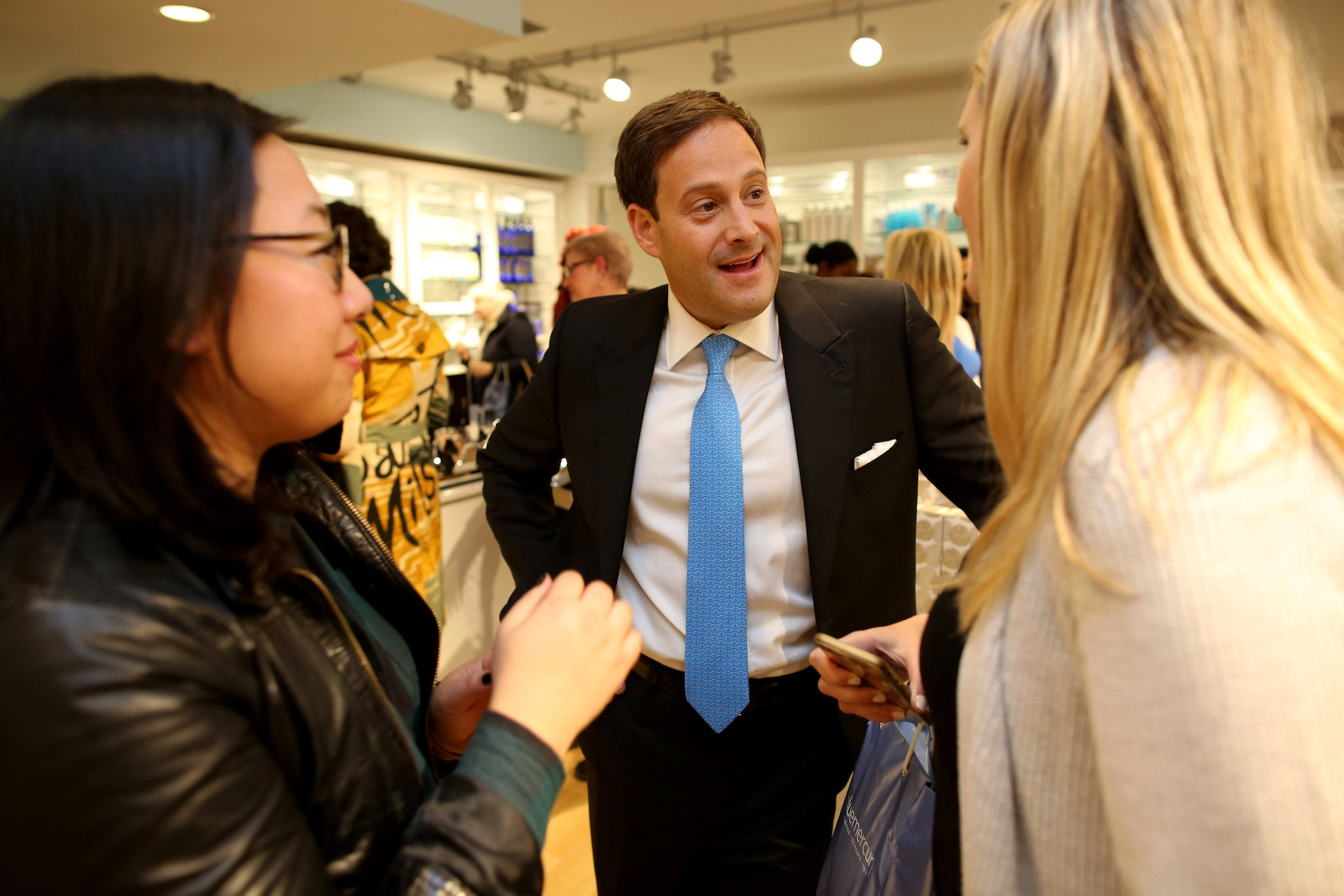 Barry Beck, Bluemercury Founder, at the grand opening of Bluemercury Shop-in-Shop at Macy's, San Francisco.