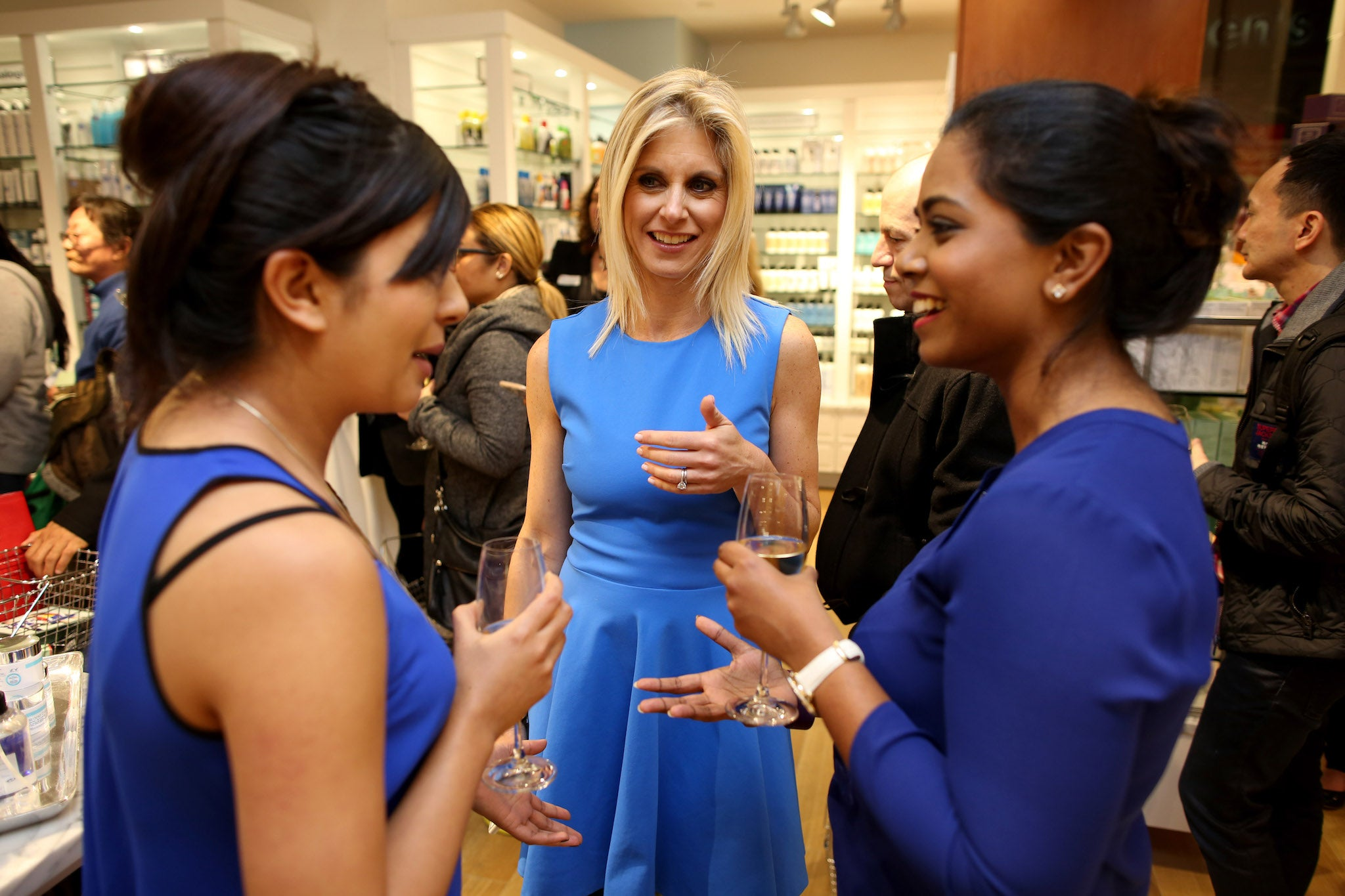 Marla Beck, Bluemercury Co-founder, at the grand opening of Bluemercury Shop-in-Shop at Macy's, San Francisco.