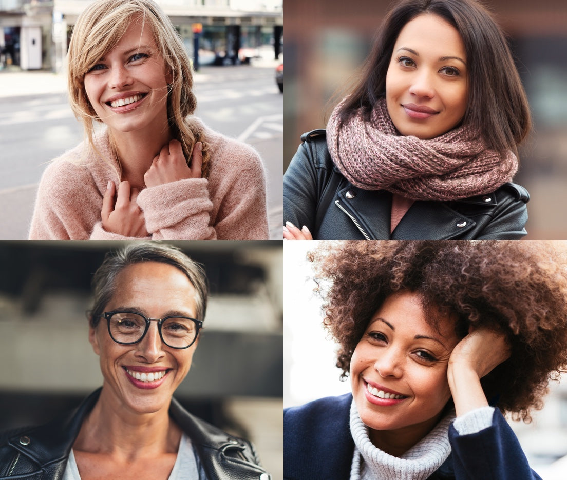 Four women of varying complexions