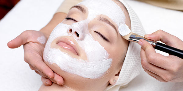 Woman enjoying a facial treatment