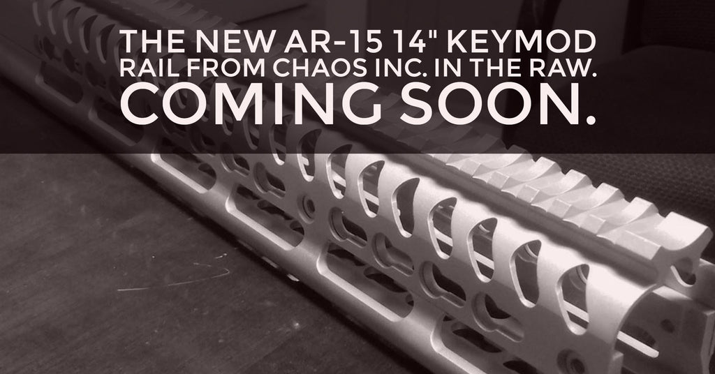 "The New AR-15 14"" Keymod Rail from Chaos Inc. in the raw. Coming Soon"