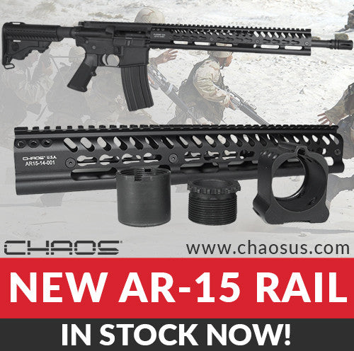 Chaos AR15-14 rail In stock now and ready to ship!