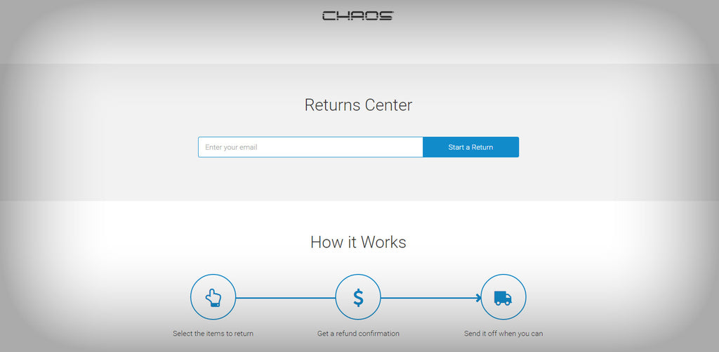 Chaos Inc Makes Exchanges/Returns Easy