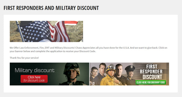 First Responders & Military Discount