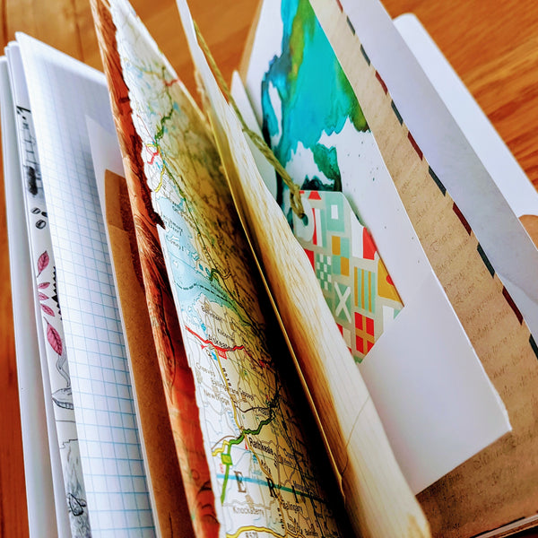Junk Journals - tuck one into your Midori Travelers Notebook!