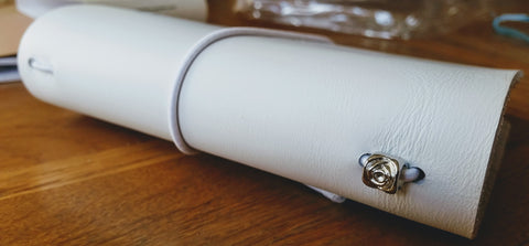 White leather TN by Bespoke Bindery
