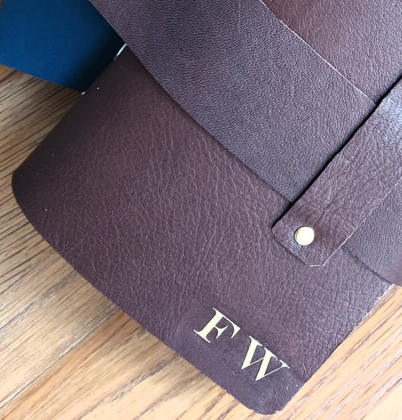 "Personalised Leather Journal Notebook ""Memoire"", envelope pockets help capture your thoughts & ideas"
