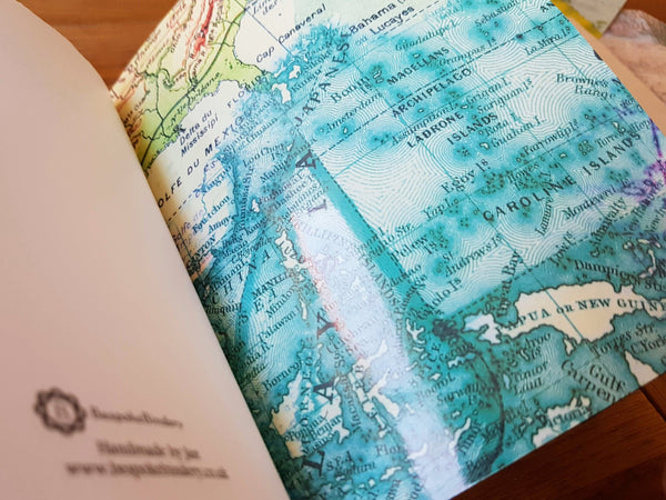add maps to your travel journal