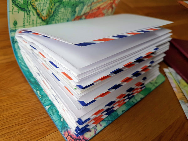 120gsm paper and airmail envelope pages