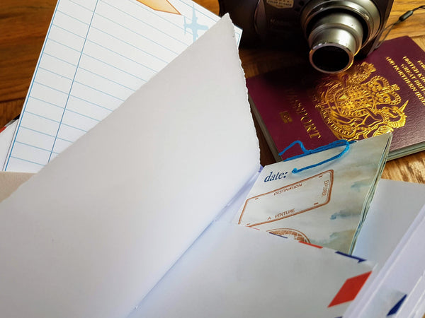 journal cards and booklets help make a special travel journal
