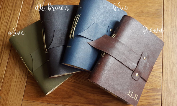 Colour options of leather journal memoire