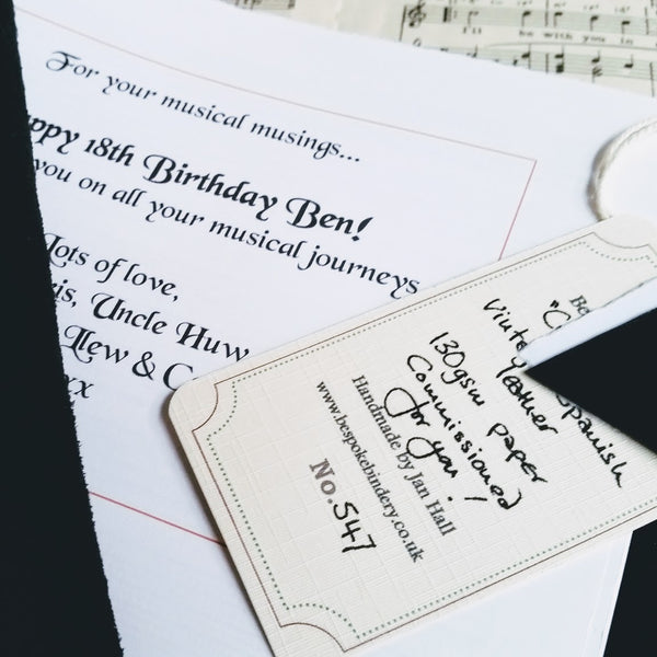 added inscription to music journal composer gift each individually numbered