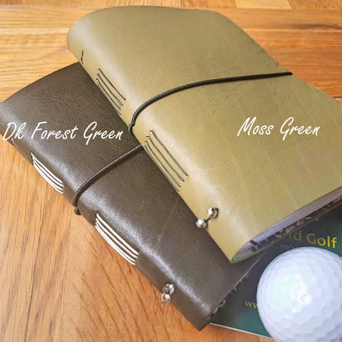 Personalised Leather Golf Journal,  Score tracker premium notebook
