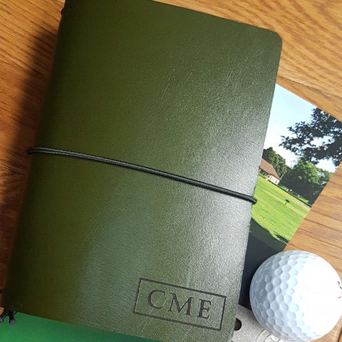 Personalised Leather Golf Journal, Refillable Golf Score Tracker