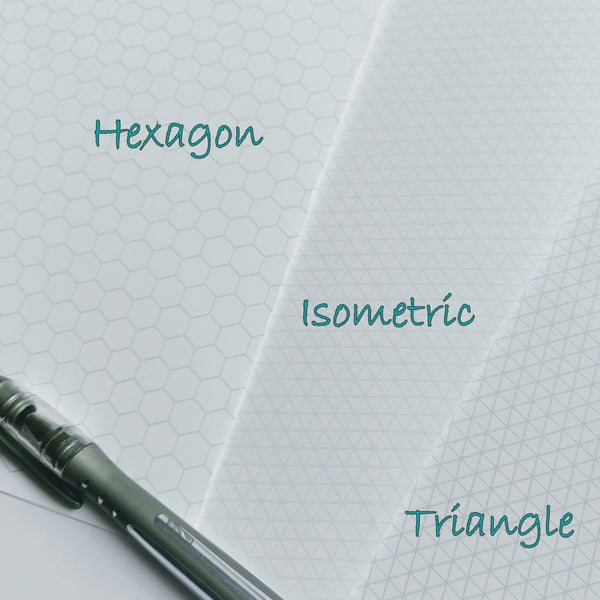 Honeycomb hexagon and triangle options for replacement midori tn inserts