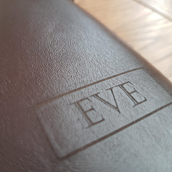 laser etched personalised leather journal cover by Bespoke Bindery