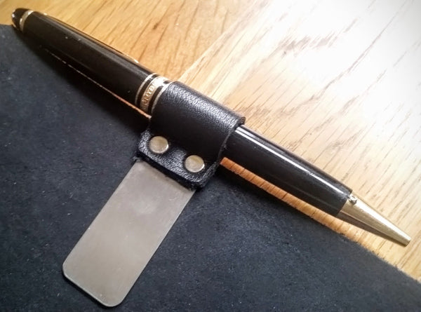 add a pen clip to your leather TN cover and house your Mont Blanc pen