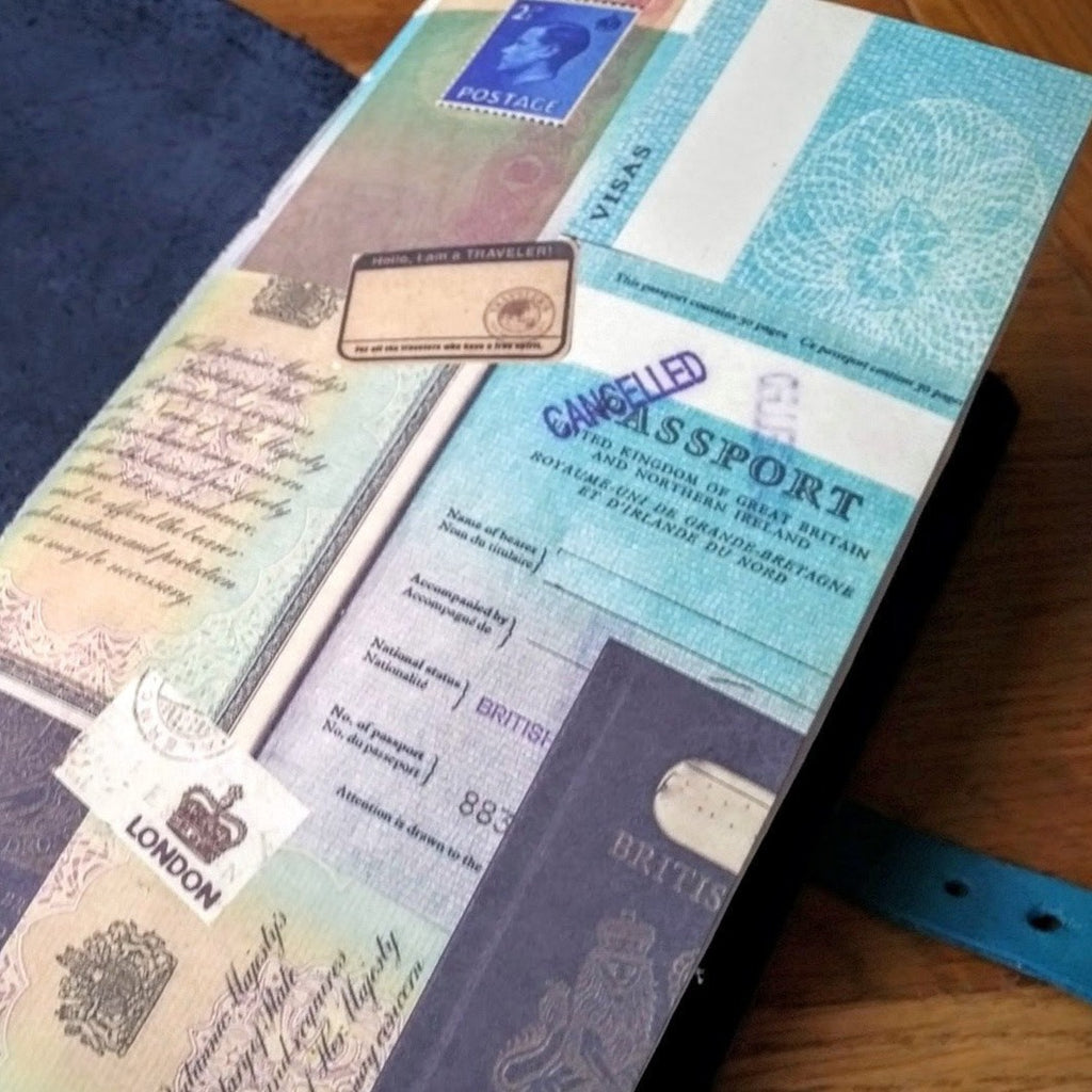 Junk Journal TN Insert in Standard size with British Passport design cover