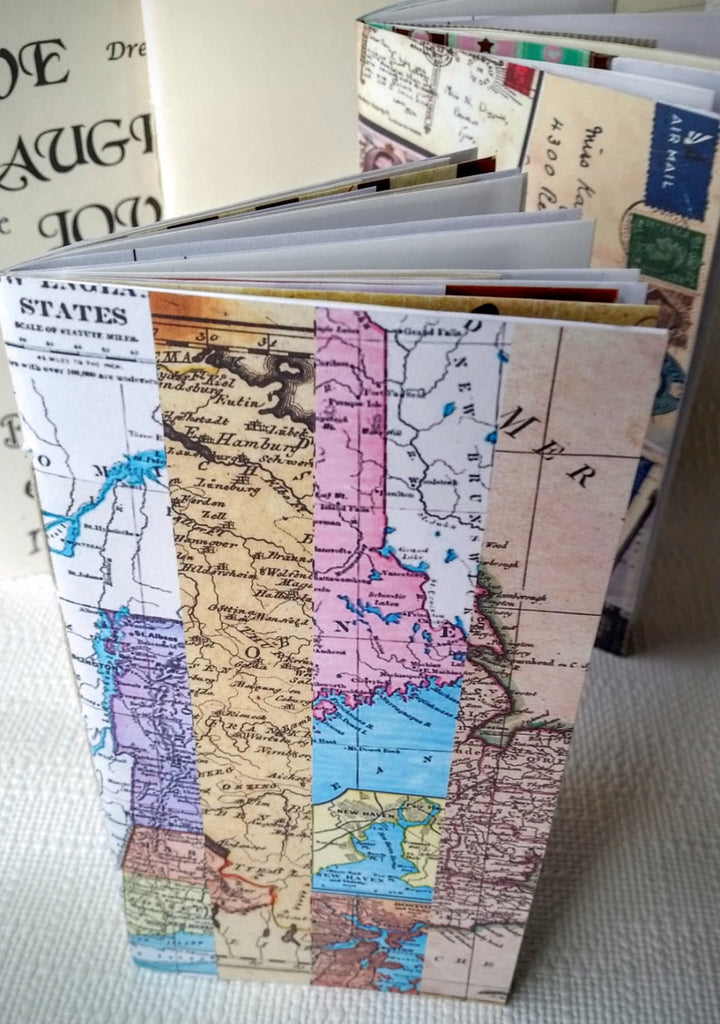 Map travel collage junk journal for TN Standard