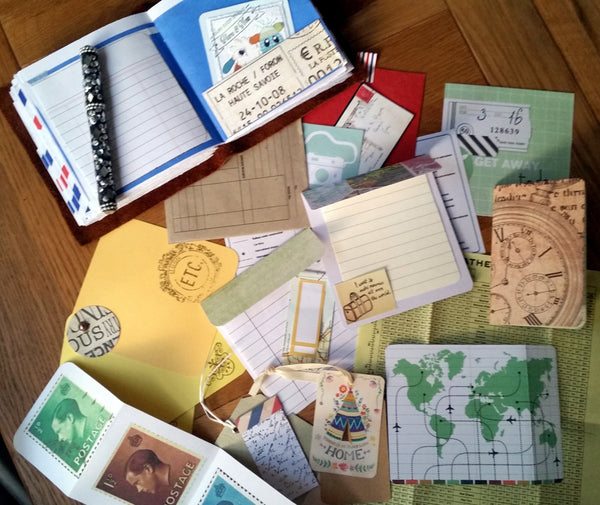 travel themed inserts included for journaling inspiration by BespokeBindery