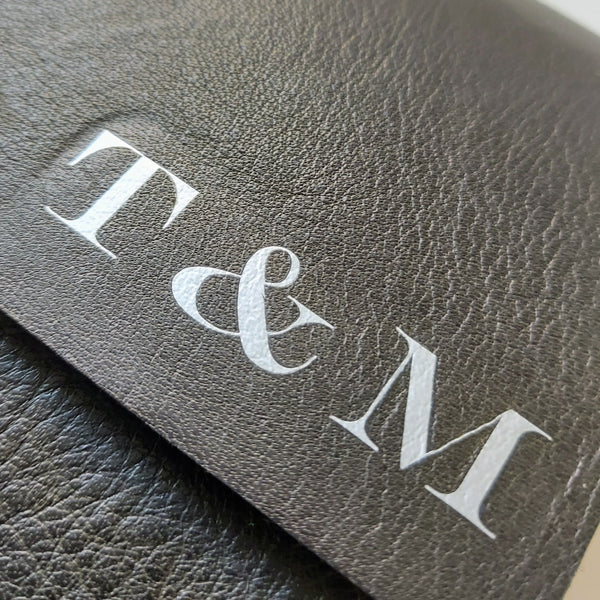 Long personalisation add-on to Bespoke Bindery Leather Journals