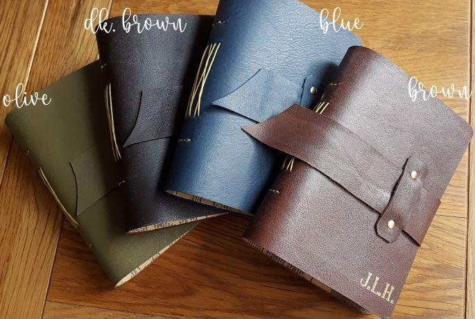 Handstitched leather at Bespoke Bindery www.bespokebindery.co.uk
