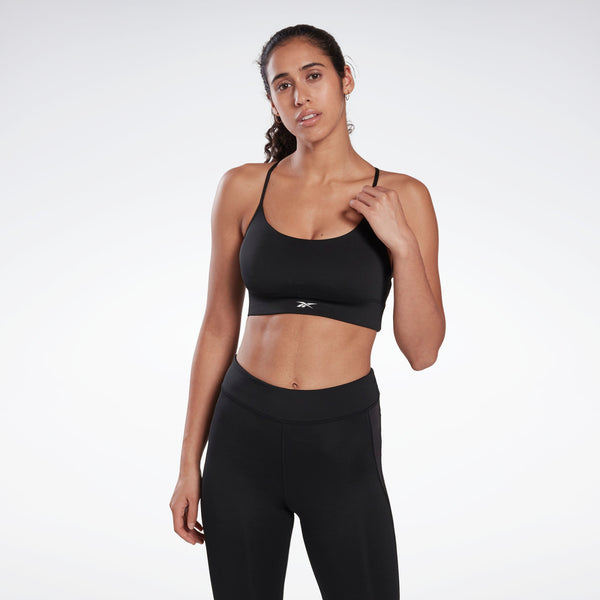 Sport Bra Reebok Workout Ready Low-Impact Tri Bra Black