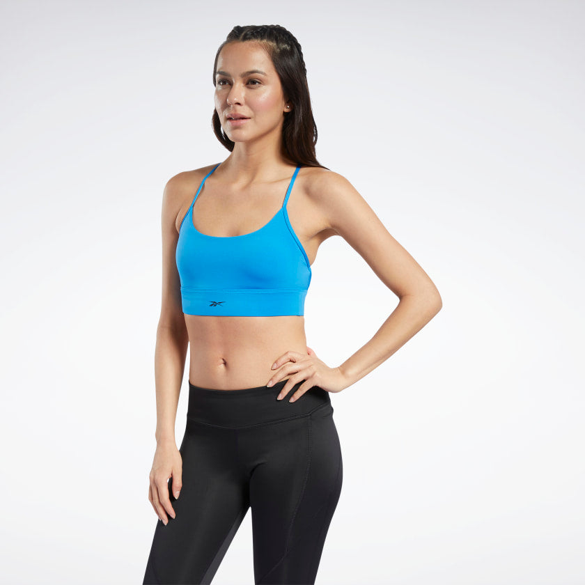 Sport Bra Reebok Workout Ready Low-Impact Tri Bra Blue