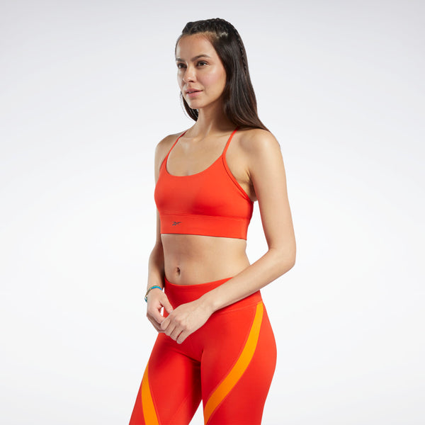 Sport Bra Reebok Workout Ready Low-Impact Tri Bra Red