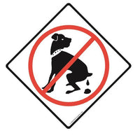 No Dog Peeing Signs